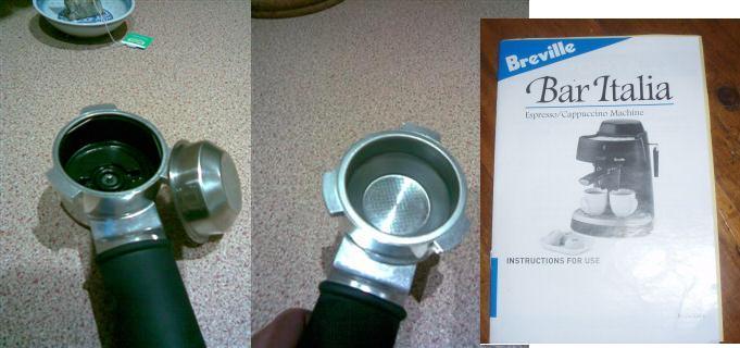 Breville Coffee Maker Esp4 Instructions : Breville Ikon - alternative to the krups basket