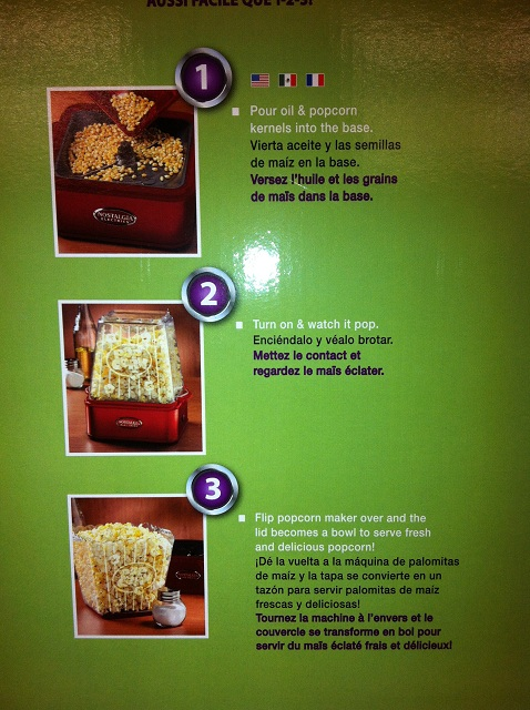 mistral popcorn maker instructions