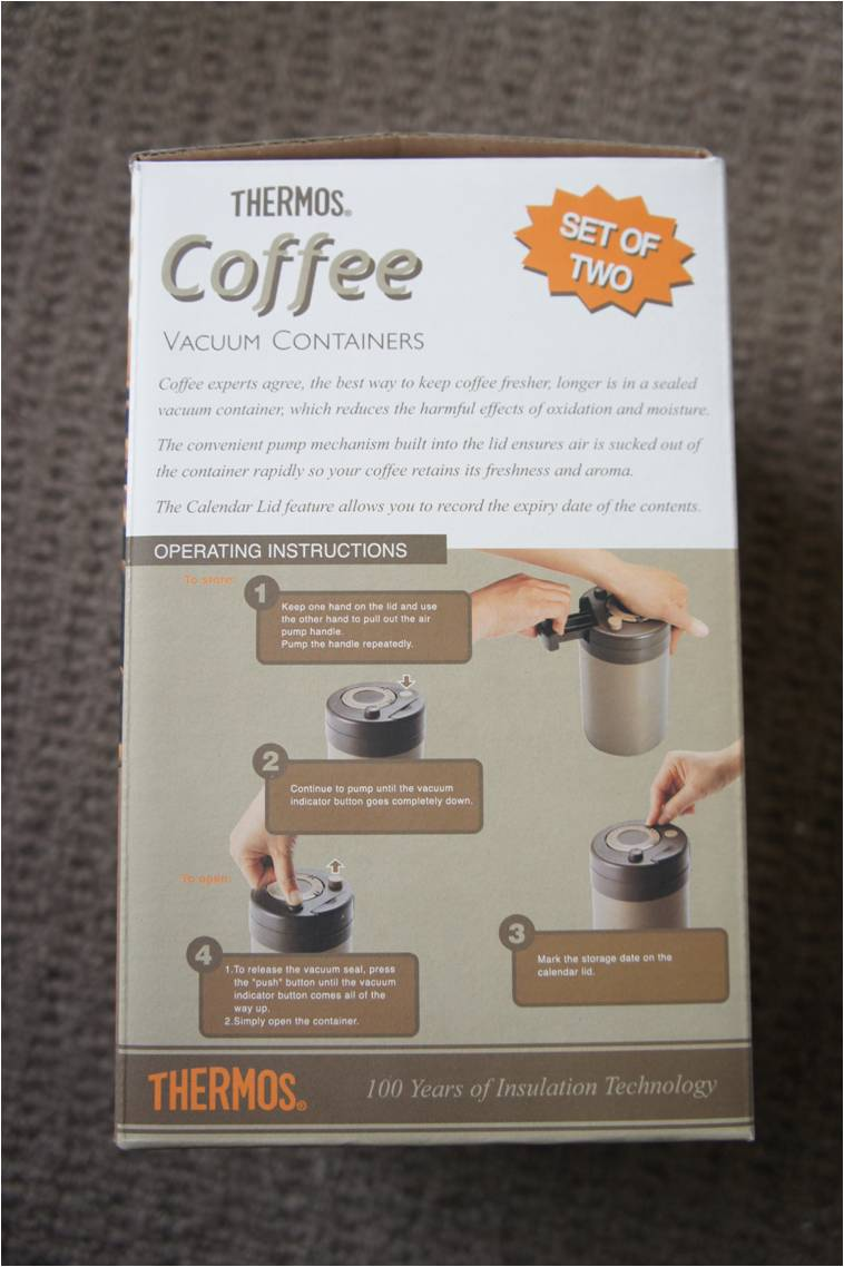 Thermos Coffee (Beans) Vacuum Containers